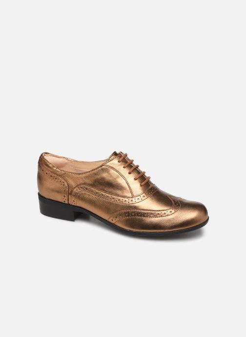 Snøresko Clarks Hamble Oak Guld og bronze detaljeret billede af skoene