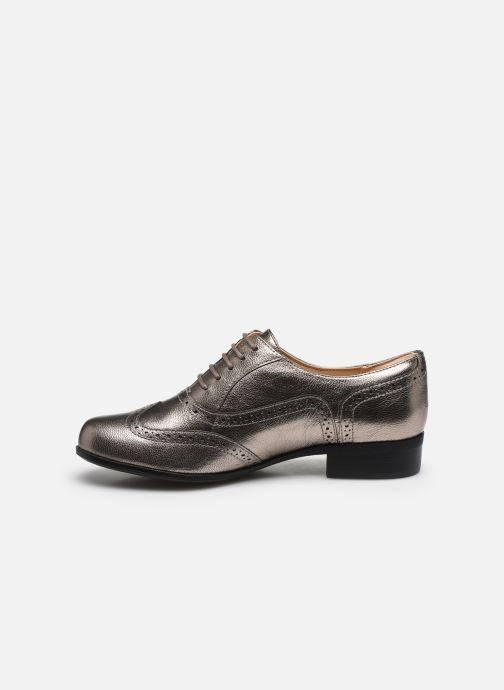 Zapatos con cordones Clarks Hamble Oak Plateado vista de frente