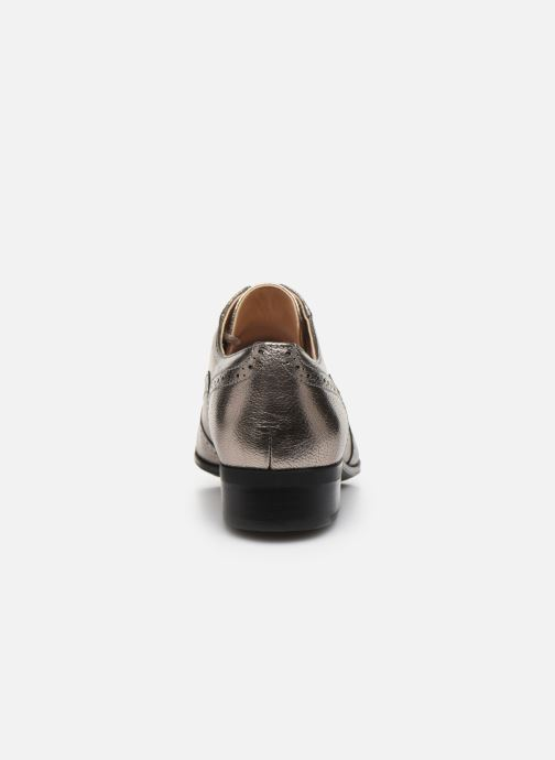 Zapatos con cordones Clarks Hamble Oak Plateado vista lateral derecha