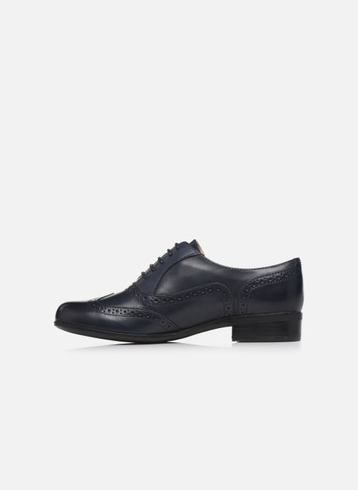 Zapatos con cordones Clarks Hamble Oak Azul vista de frente
