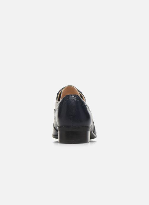 Zapatos con cordones Clarks Hamble Oak Azul vista lateral derecha