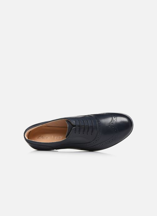 Zapatos con cordones Clarks Hamble Oak Azul vista lateral izquierda