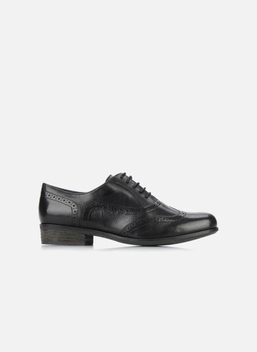 Snörade skor Clarks Hamble Oak Svart bild från baksidan