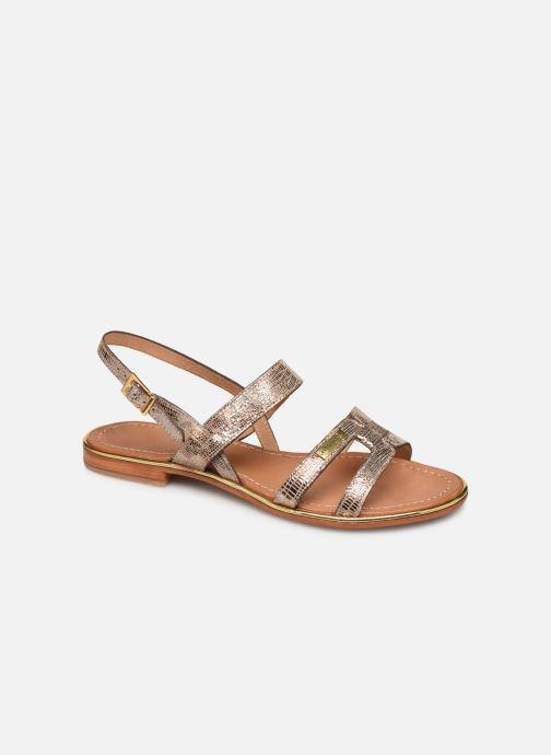 Sandals Les Tropéziennes par M Belarbi Hilda Bronze and Gold detailed view/ Pair view