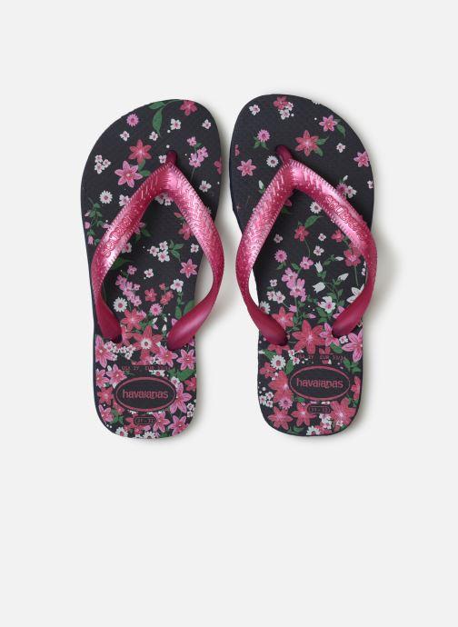 Tongs Havaianas Kids flores Multicolore vue portées chaussures