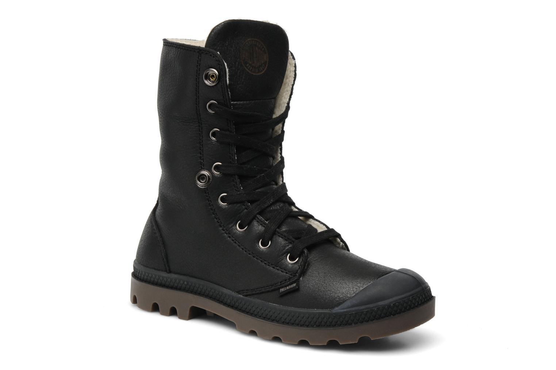 Bottines et boots Palladium Baggy ls w Noir vue 3/4