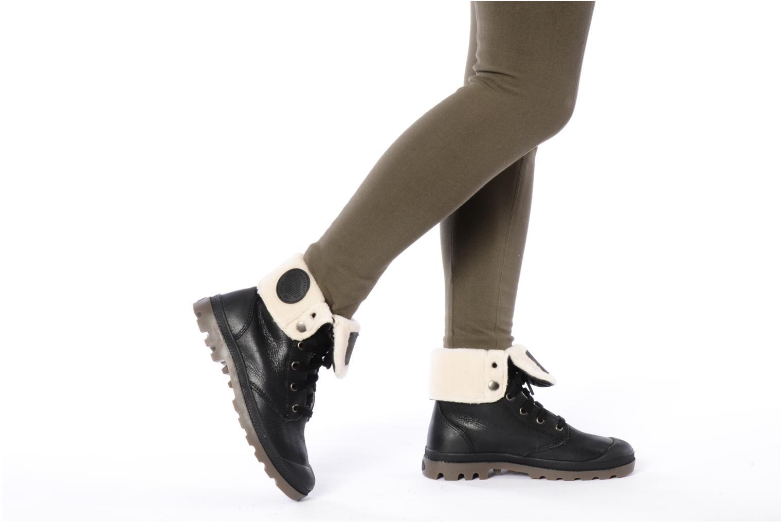 Bottines et boots Palladium Baggy ls w Noir vue bas / vue portée sac