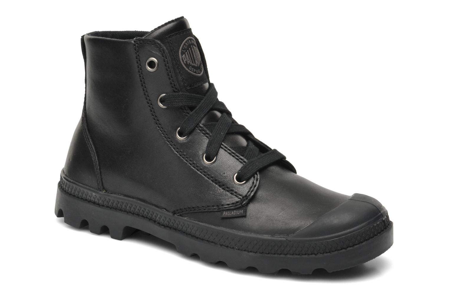 Sneakers Palladium Pampa hi leather w Sort detaljeret billede af skoene