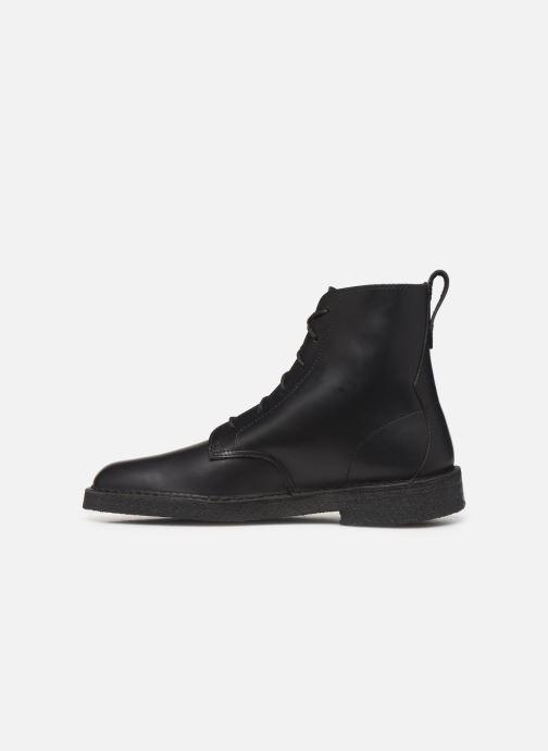Stiefeletten & Boots Clarks Originals Desert mali schwarz ansicht von vorne