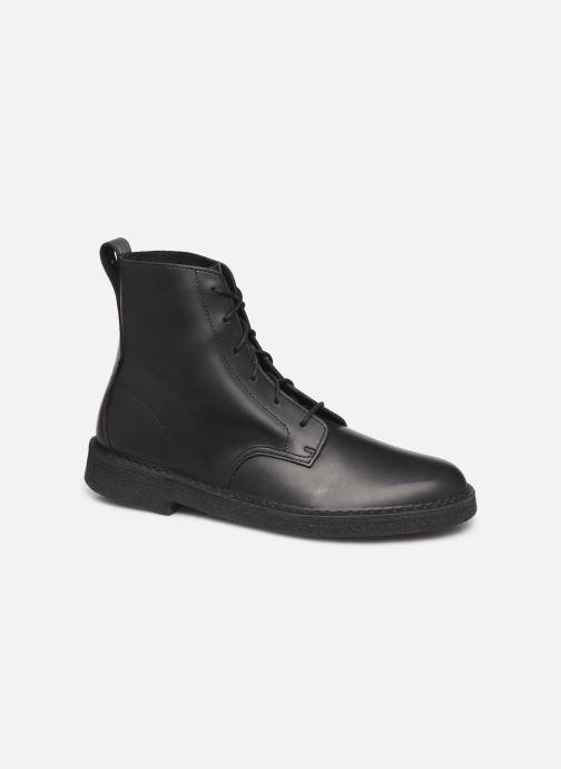 Ankelstøvler Clarks Originals Desert mali Sort detaljeret billede af skoene