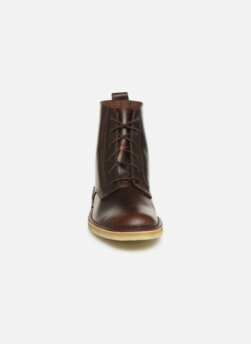 Bottines et boots Clarks Originals Desert mali Marron vue portées chaussures