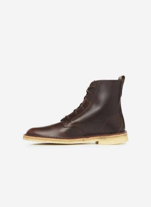Stiefeletten & Boots Clarks Originals Desert mali braun ansicht von vorne