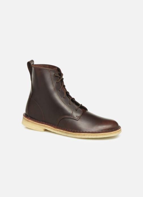 Bottines et boots Clarks Originals Desert mali Marron vue détail/paire