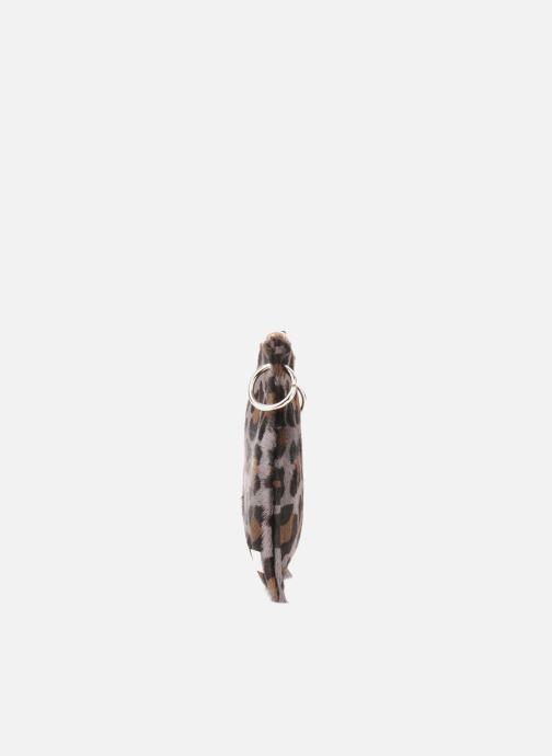 Pochette Georgia Rose Luna Cuir Marrone modello indossato