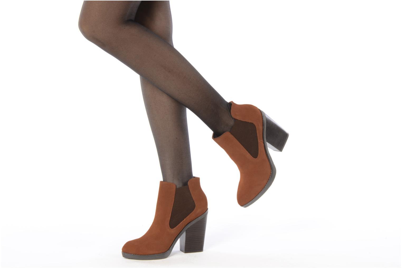 Bottines et boots Bertie Julietta Orange vue bas / vue portée sac