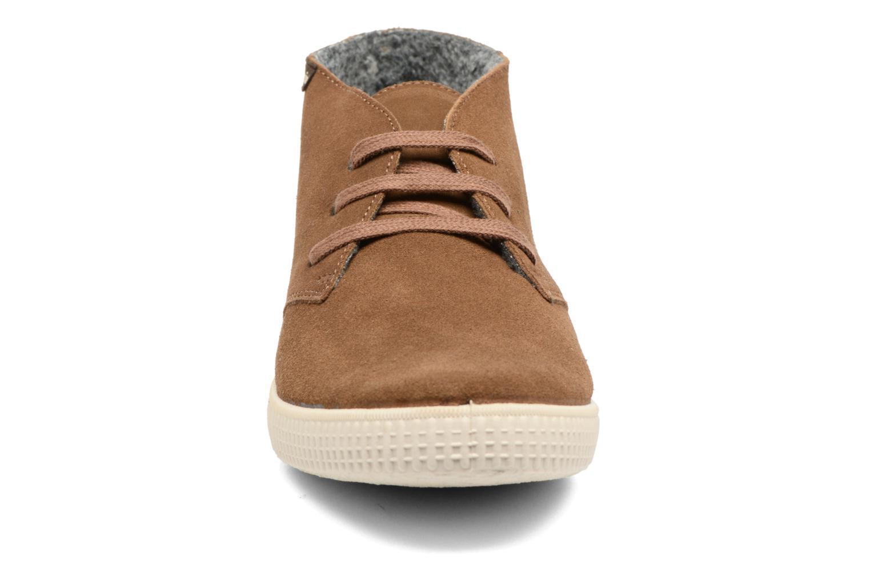 Lace-up shoes Victoria Safari serraje M Brown model view