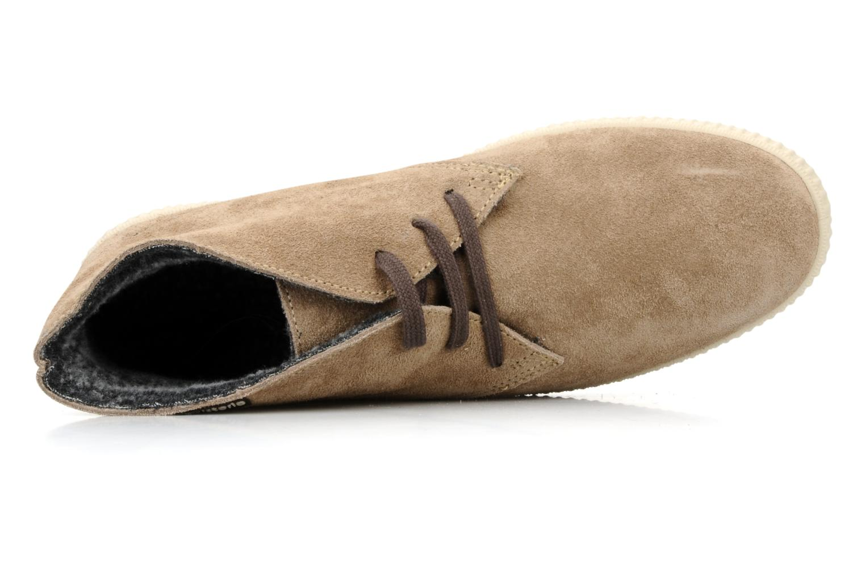Chaussures à lacets Victoria Safari serraje M Beige vue gauche