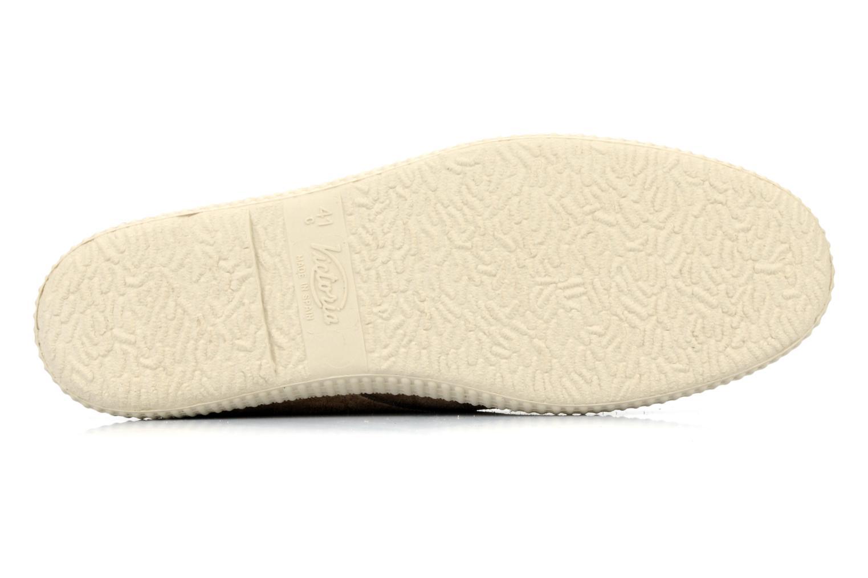 Chaussures à lacets Victoria Safari serraje M Beige vue haut