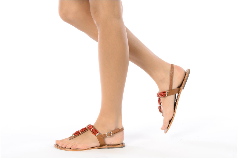 Sandales et nu-pieds Jonak Yoya Rouge vue bas / vue portée sac