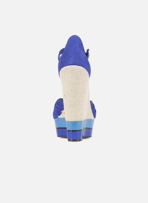 Sandales et nu-pieds Carvela Kennis Bleu vue droite