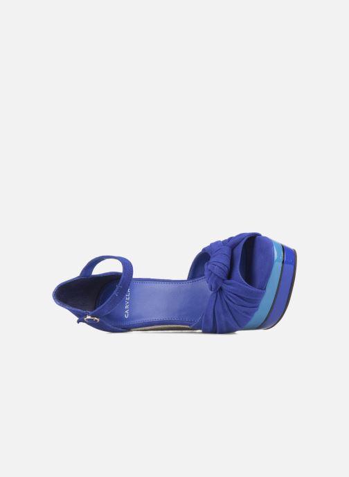 Sandales et nu-pieds Carvela Kennis Bleu vue gauche
