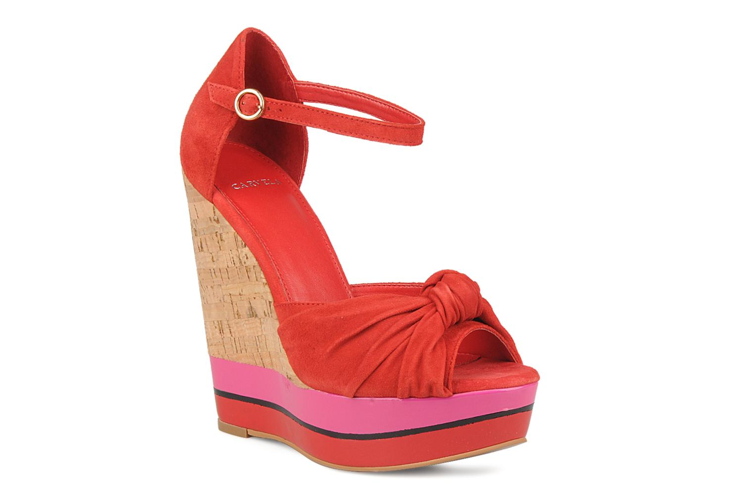 Sandals Carvela Kennis Red detailed view/ Pair view