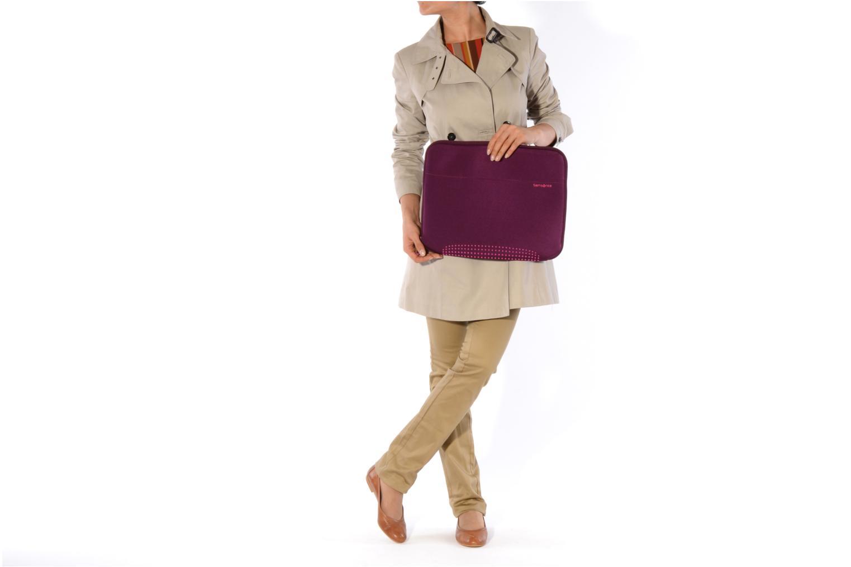 Petite Maroquinerie Samsonite Aramon laptop sleeve 15,6 Violet vue haut