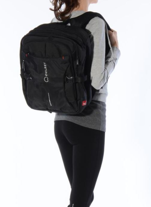 Rucksacks Delsey Crosstrip sac à dos Black view from underneath / model view