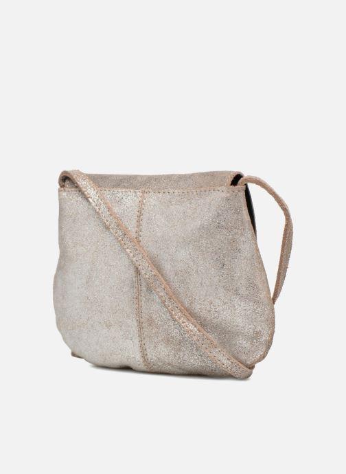 Sacs à main Pieces Totally Royal leather Party bag Argent vue droite