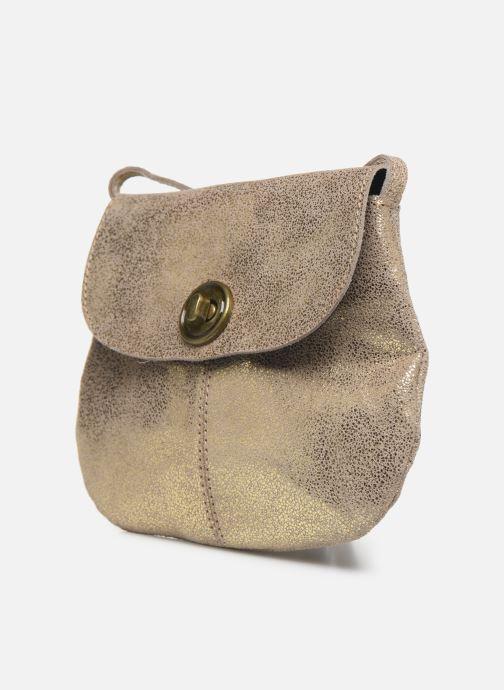 Sacs à main Pieces Totally Royal leather Party bag Or et bronze vue portées chaussures