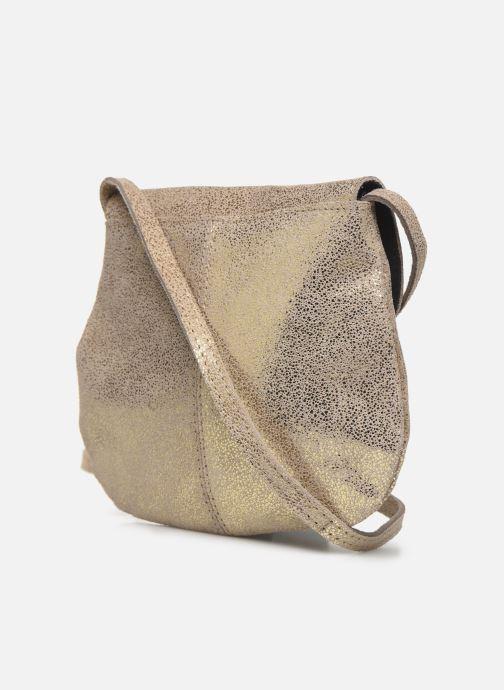 Sacs à main Pieces Totally Royal leather Party bag Or et bronze vue droite