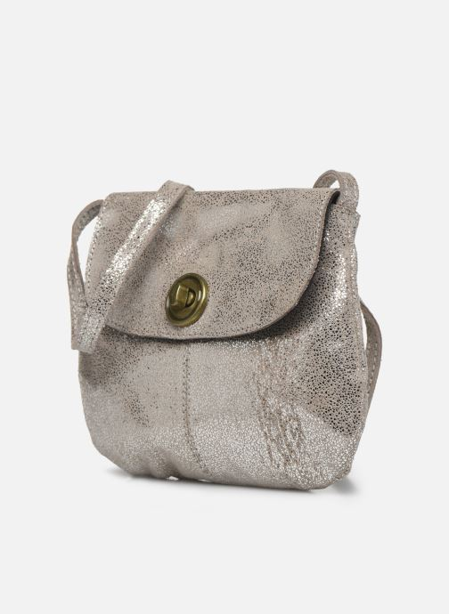 Handbags Pieces Totally Royal leather Party bag Silver model view