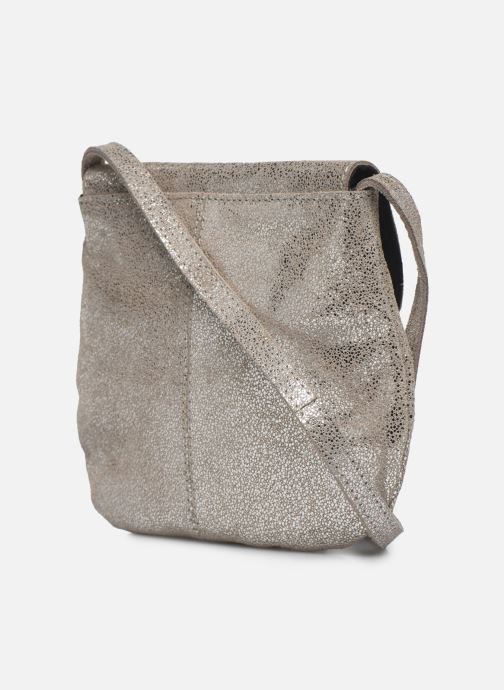 Handbags Pieces Totally Royal leather Party bag Silver view from the right