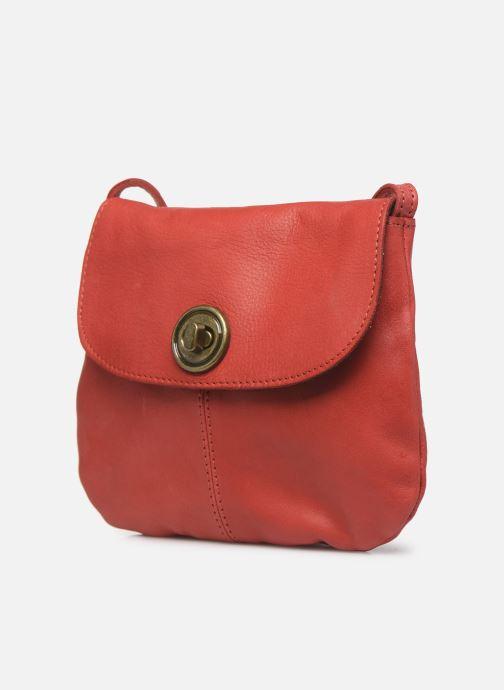 Sacs à main Pieces Totally Royal leather Party bag Rouge vue portées chaussures