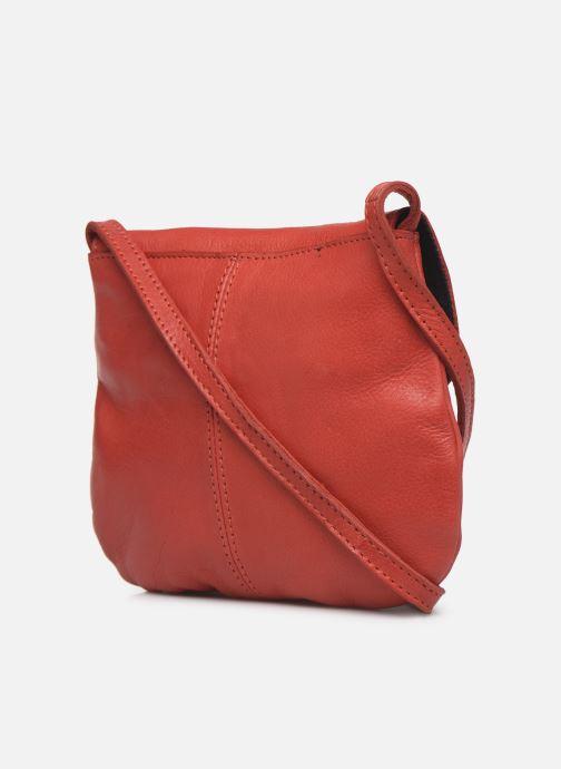 Sacs à main Pieces Totally Royal leather Party bag Rouge vue droite