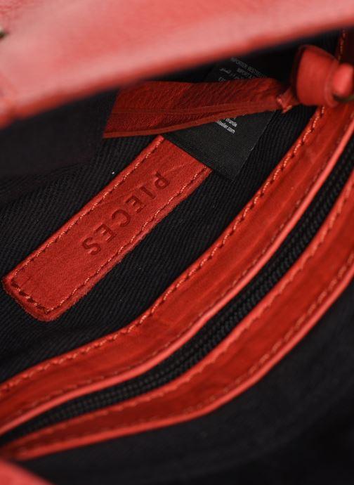 Sacs à main Pieces Totally Royal leather Party bag Rouge vue derrière