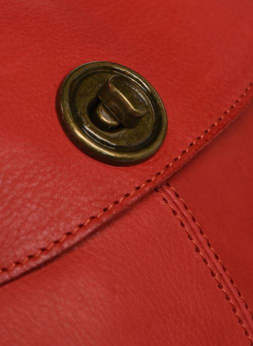 Sacs à main Pieces Totally Royal leather Party bag Rouge vue gauche