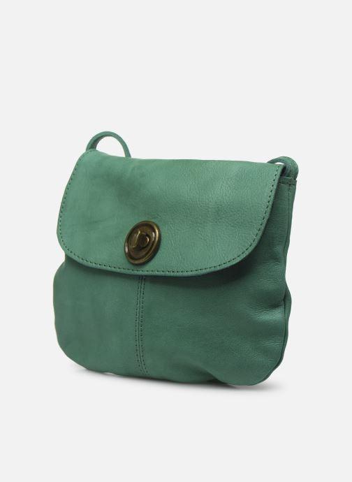 Sacs à main Pieces Totally Royal leather Party bag Vert vue portées chaussures
