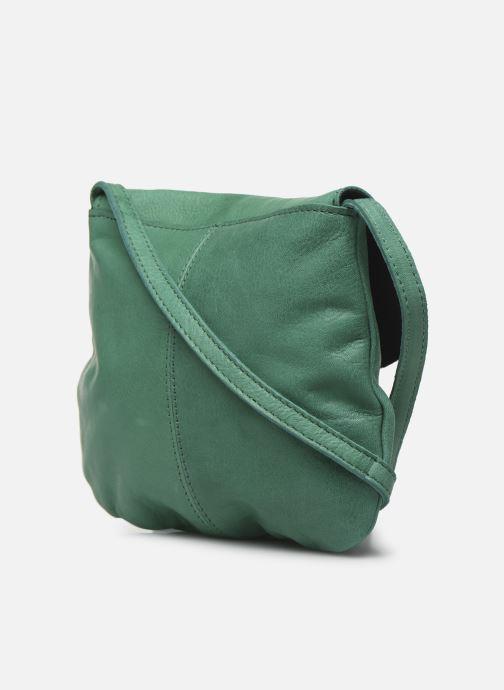 Bolsos de mano Pieces Totally Royal leather Party bag Verde vista lateral derecha