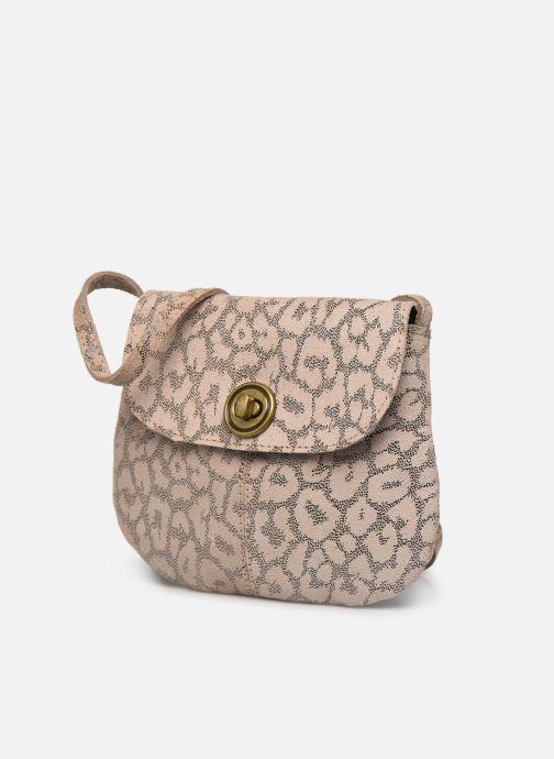 Handtaschen Pieces Totally Royal leather Party bag weiß schuhe getragen