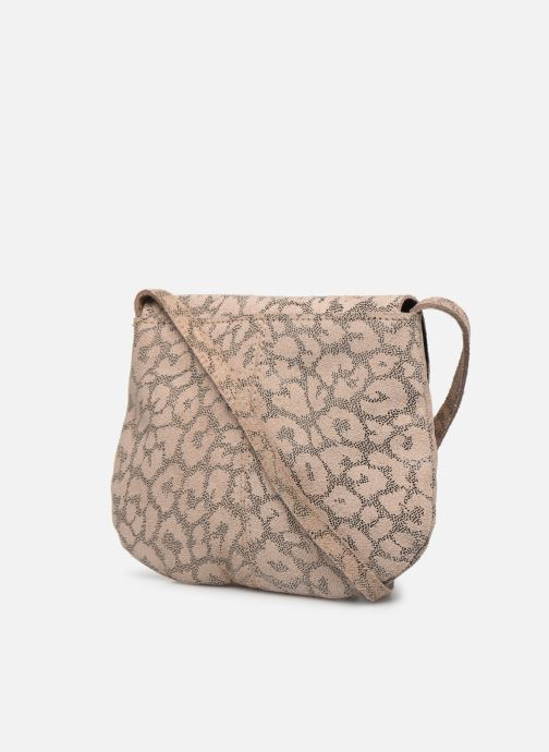 Handtaschen Pieces Totally Royal leather Party bag weiß ansicht von rechts