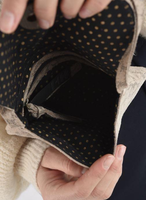 Handtaschen Pieces Totally Royal leather Party bag weiß ansicht von hinten