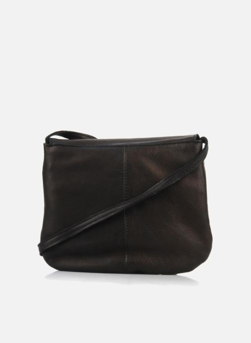 Handbags Pieces Totally Royal leather Party bag Black front view