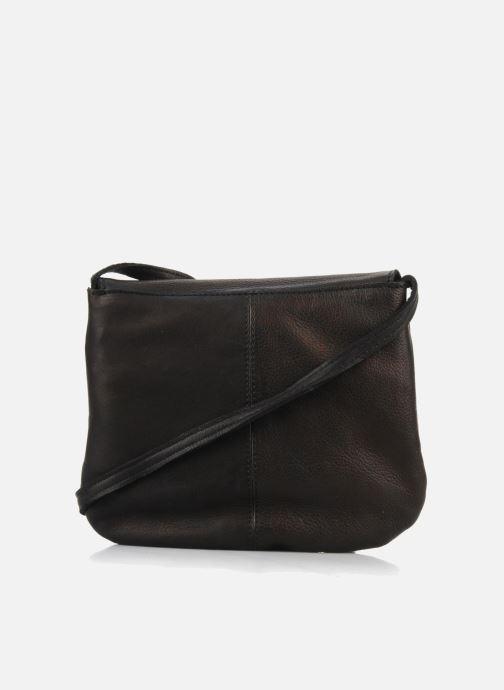 Bolsos de mano Pieces Totally Royal leather Party bag Negro vista de frente
