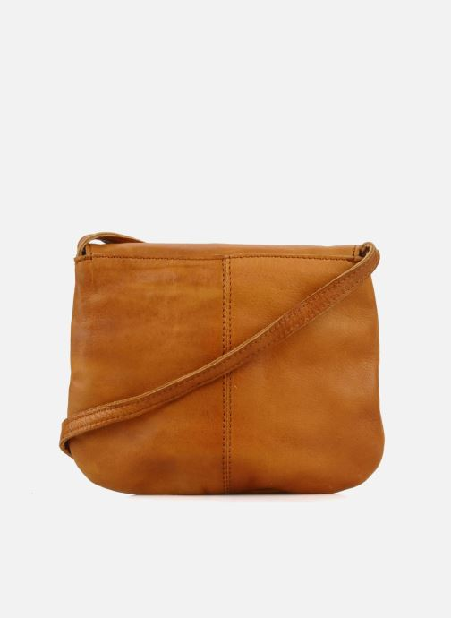 Handtassen Pieces Totally Royal leather Party bag Bruin voorkant