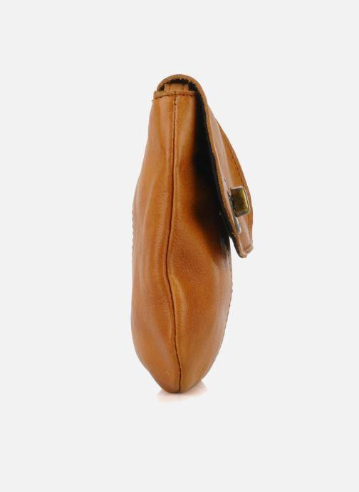 Bolsos de mano Pieces Totally Royal leather Party bag Marrón vista lateral derecha