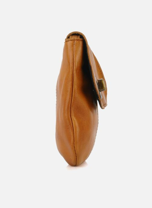 Handbags Pieces Totally Royal leather Party bag Brown view from the right