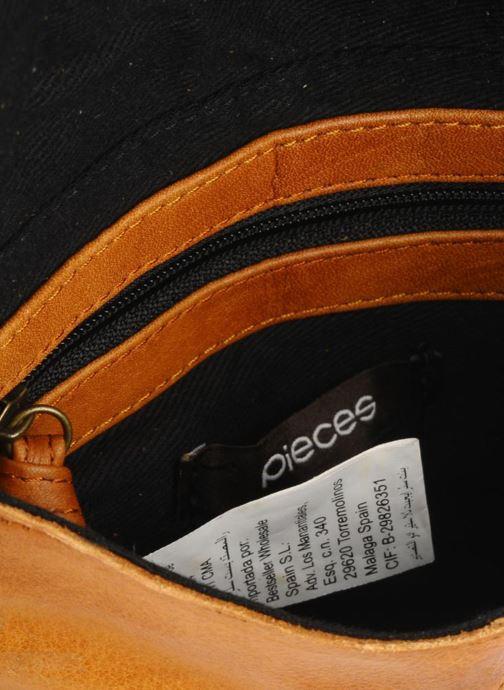 Bolsos de mano Pieces Totally Royal leather Party bag Marrón vistra trasera