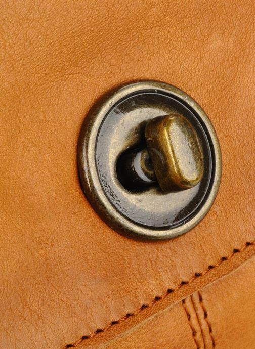 Bolsos de mano Pieces Totally Royal leather Party bag Marrón vista lateral izquierda