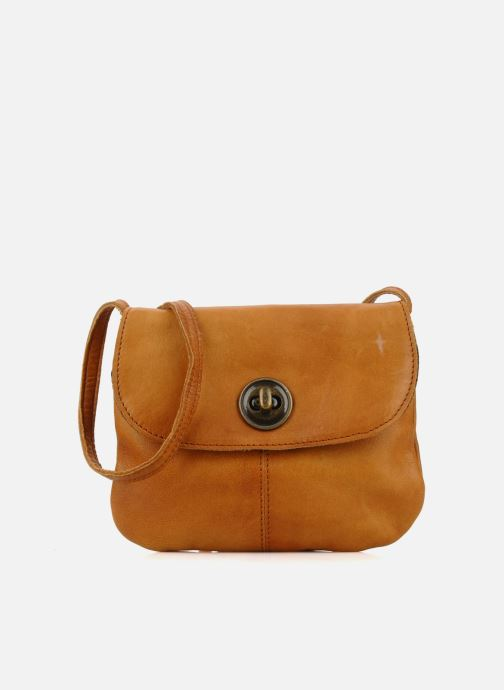 Handtassen Pieces Totally Royal leather Party bag Bruin detail